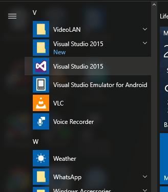 Run Visual Studio 2015
