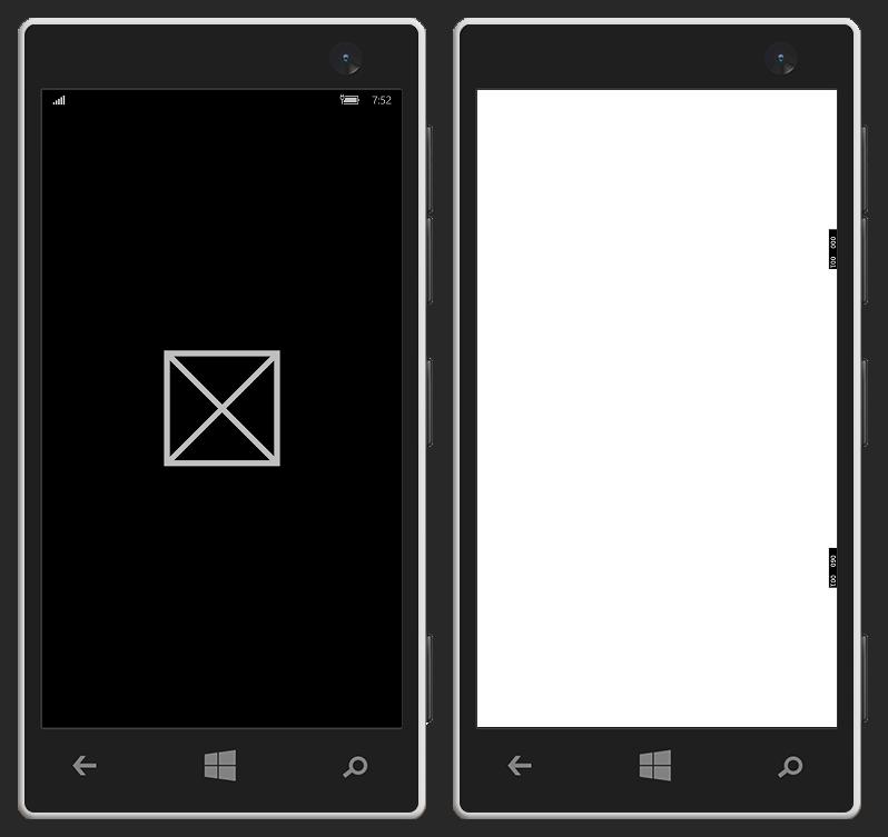 App Deployed and Run - Splash Screen - Empty Window (Mobile)