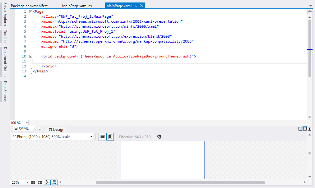 MainPage.xaml content