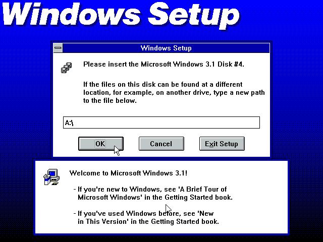 Gambar 11. Setup memintamu memasukkan Disk #4