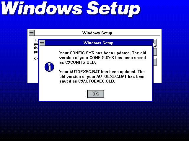 Gambar 13. Setup menyatakan bahwa file sistem telah diperbarui