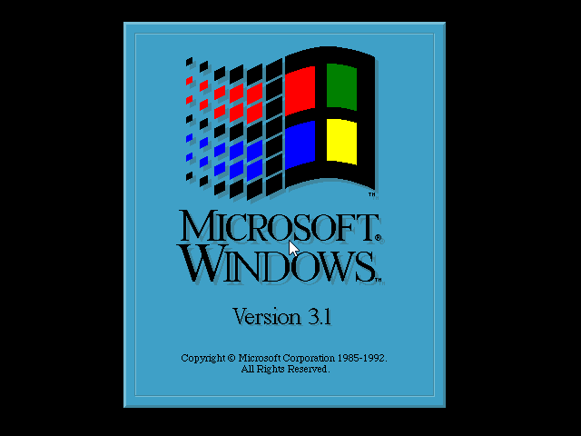 Gambar 17. Boot screen Windows 3.1