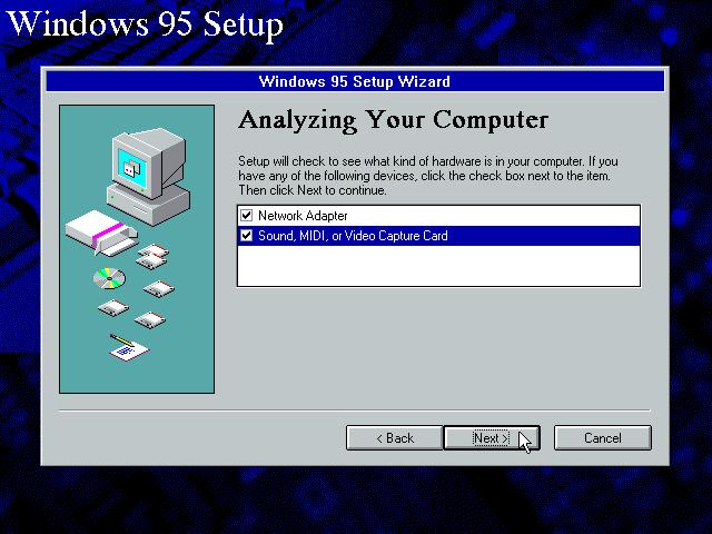 Gambar 10. Setup ingin mengecek hardware yang ada di komputer