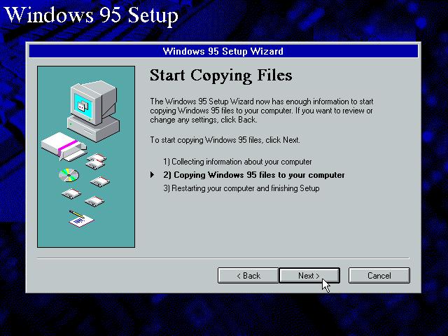 Gambar 13. Start Copying Files