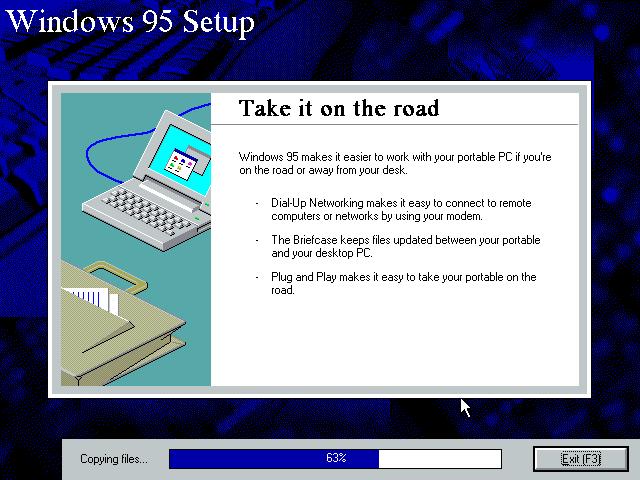 Gambar 14. Setup sedang menyalin file Windows ke hard disk