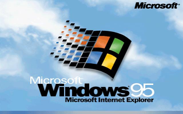 Gambar 16. Boot screen Windows 95 dengan Microsoft Internet Explorer yang featured