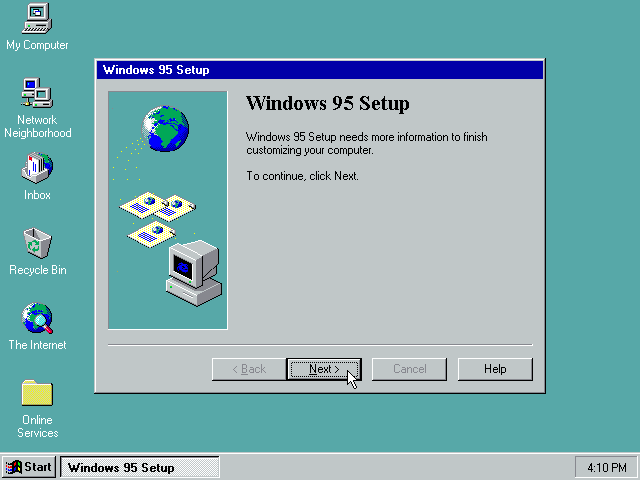 Gambar 24. Windows 95 Setup yang terakhir