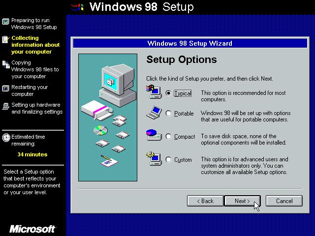 Gambar 8. Wizard setup menyediakan pilihan jenis pemasangan