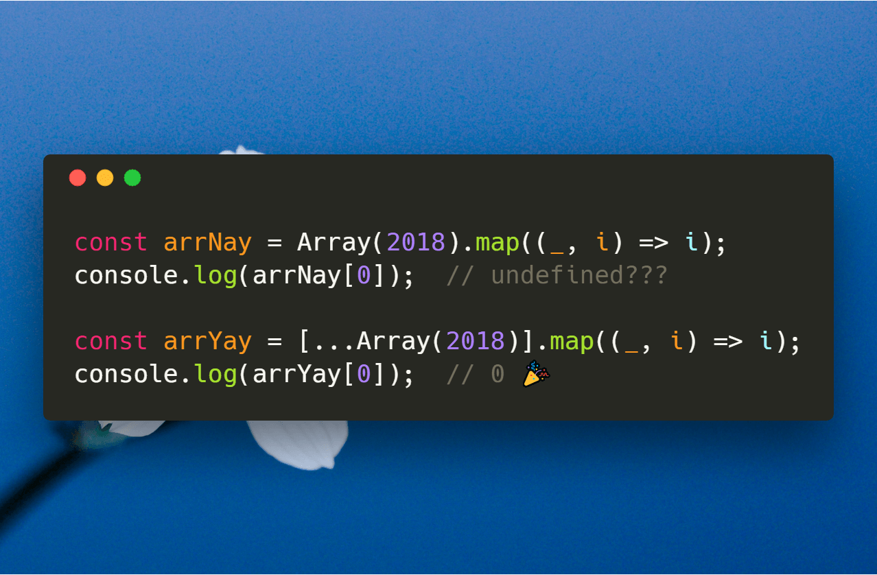 Map Constructed Array on JavaScript The Right Way